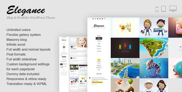 Elegance - Responsive Portfolio WordPress Theme - Portfolio Creative