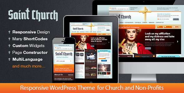 SaintChurch: WordPress Theme for Charity - Churches Nonprofit