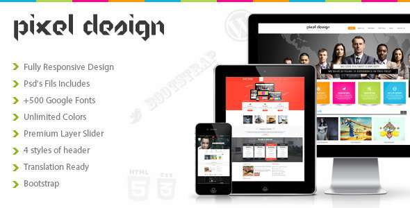 Pixel Design Multipurpose Theme - Business Corporate
