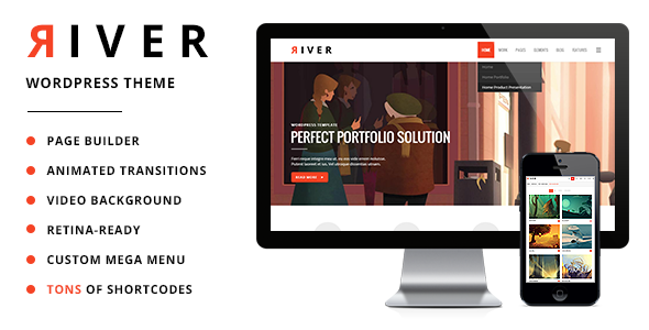 River - Retina Multi-Purpose WordPress Theme - Creative WordPress