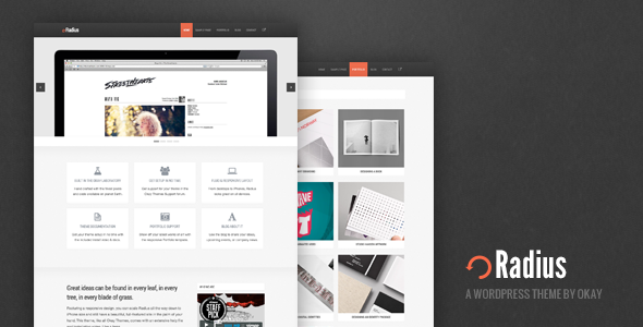 Radius Responsive WordPress Theme - Portfolio Creative