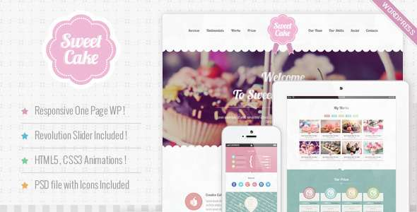 Sweet Cake - Responsive WordPress Theme - Food Retail