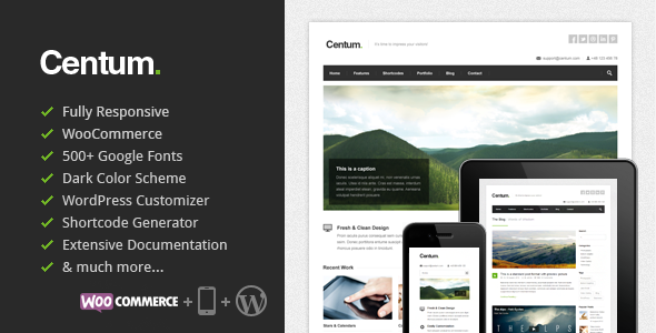 Centum - Responsive WordPress Theme - Business Corporate