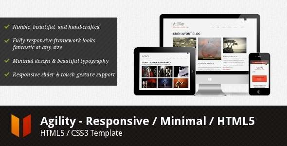 Agility - Responsive / Minimal / HTML5 - Corporate Site Templates