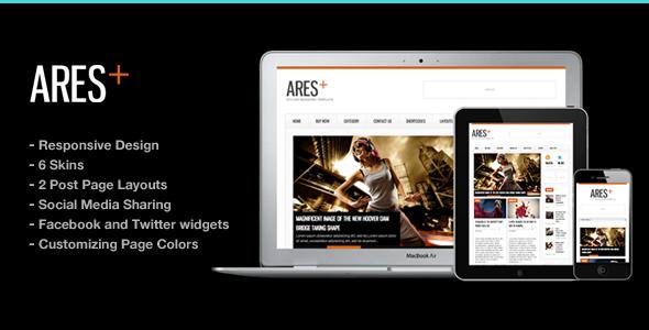 Ares Blog Magazine Newspaper Template  - News / Editorial Blog / Magazine
