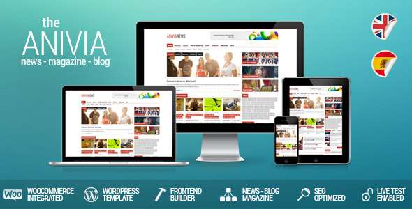Anivia - News, Magazine, Blog WordPress Templates - Blog / Magazine WordPress