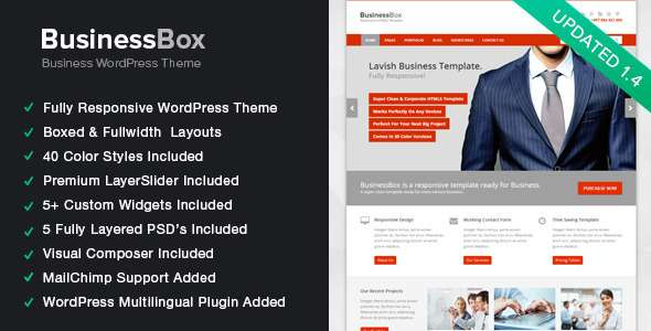 BusinessBox - Responsive Business WordPress Theme - Corporate WordPress