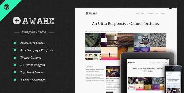 Aware - Responsive WordPress Portfolio Theme - Portfolio Creative