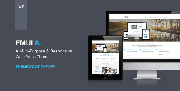 Emulate: Multi-Purpose Responsive WordPress Theme - Business Corporate