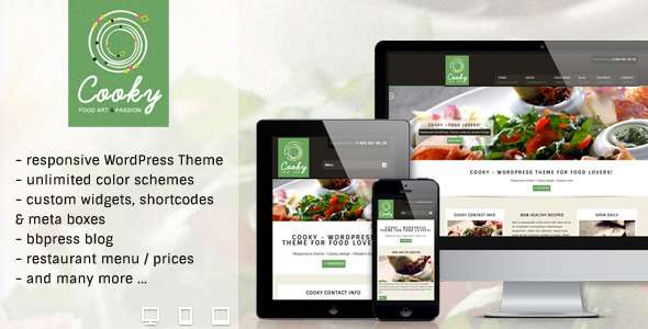 Cooky Restaurant Responsive WordPress Theme - Restaurants & Cafes Entertainment