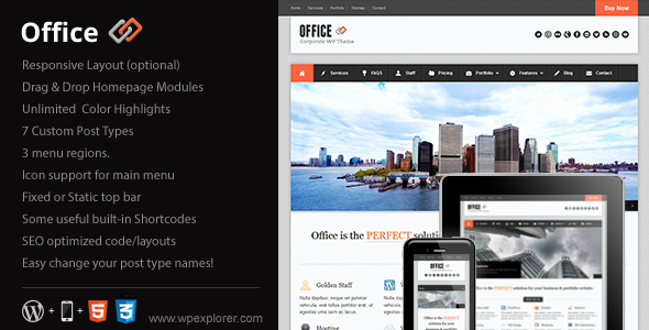 Office Responsive Business Theme - Business Corporate