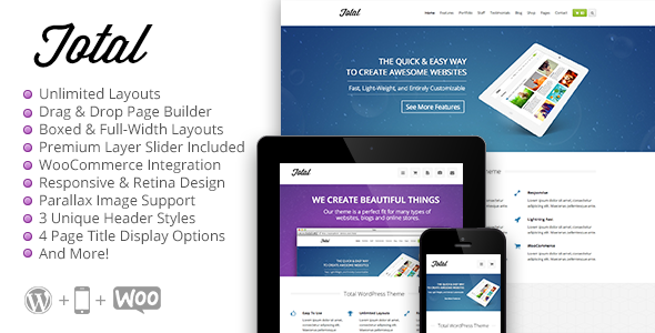 Total - Responsive Multi-Purpose WordPress Theme - Corporate WordPress