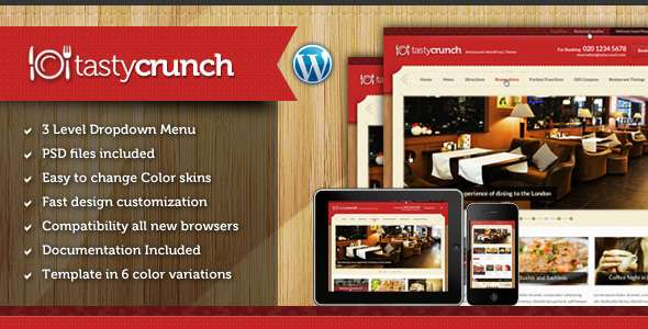 Tasty Crunch - Food Recipe and Restaurant theme - Food Retail