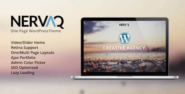 Nervaq - Responsive One Page WordPress Theme - Portfolio Creative