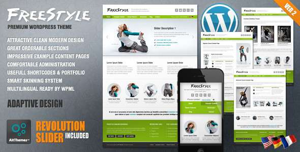 Freestyle Responsive WordPress Theme - Creative WordPress