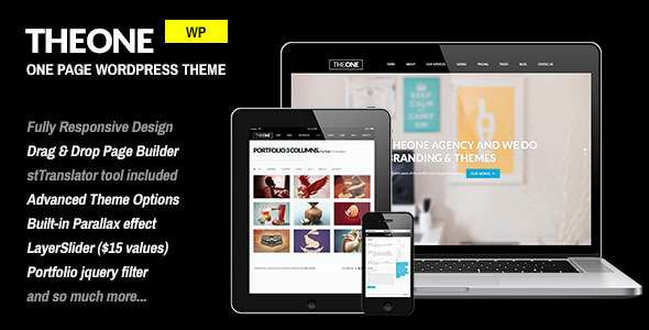 TheOne - Responsive WP One Page Parallax - Portfolio Creative