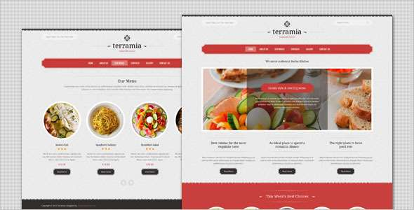 Terramia - Classic Restaurant WordPress Theme - Restaurants & Cafes Entertainment