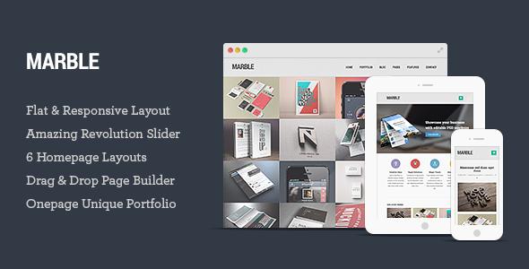 Marble - Flat Responsive Creative WordPress Theme - Portfolio Creative