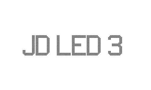 JD LED 3 font