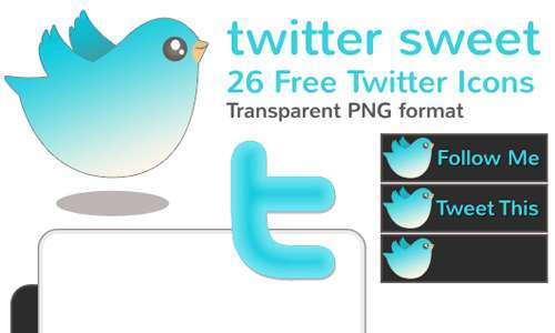 Twitter Sweet - 26 Free Twitter Icons