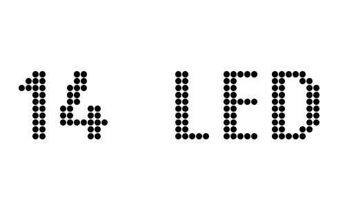 14 LED font