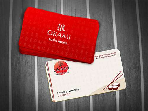 Okami Sushi House - Business Card