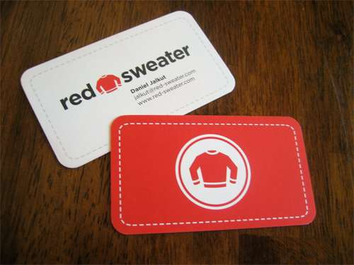 Red Sweater Business Cards
