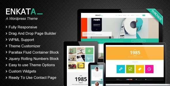 Enkata - Responsive WordPress CMS Theme - Portfolio Creative