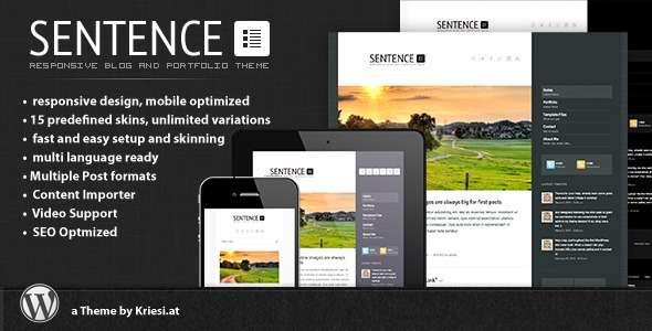 Sentence - Responsive Blog and Portfolio - Personal Blog / Magazine