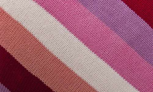 Cheerfully Warm Striped Fabric Texture