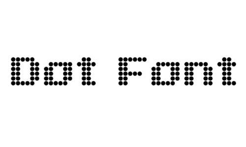 Dot Font Eng font