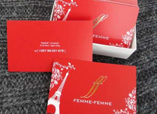 4 femme business card image