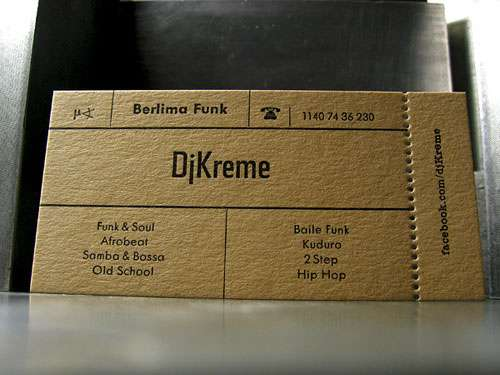 Business Card for: DJ Kreme