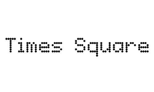 Times Square font