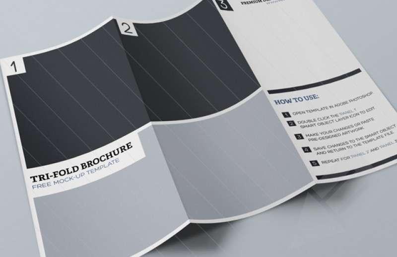 Tri Fold Brochure Mock-up Template : Image 1