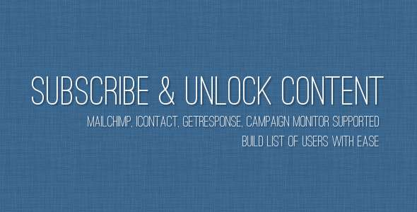 Subscribe to Unlock Content - CodeCanyon Item for Sale