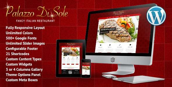 Palazzo Di Sole - Responsive Restaurant Theme - Food Retail