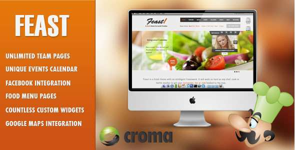 Feast - Facebook Fanpage & WordPress theme - Restaurants & Cafes Entertainment