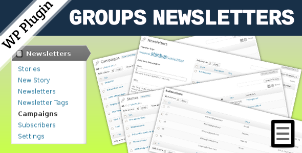 Groups Newsletters - CodeCanyon Item for Sale