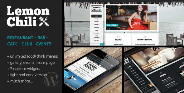 LemonChili - a Premium Restaurant WordPress Theme  - Restaurants & Cafes Entertainment