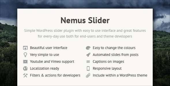 Nemus Slider - CodeCanyon Item for Sale