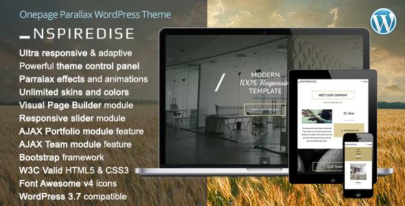 _NSPIREDISE - Onepage Parallax WordPress Theme - Portfolio Creative