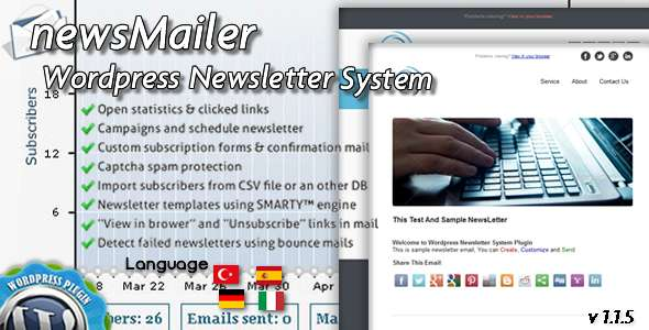 newsMailer - WordPress Newsletter System Plugin - CodeCanyon Item for Sale