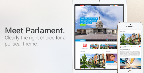 Parlament: Political WordPress Theme - Political Nonprofit