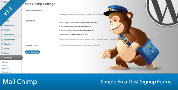 Simple Mail Chimp Signup Forms - CodeCanyon Item for Sale