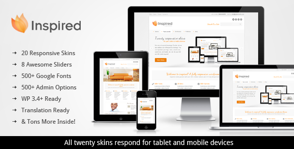 Inspired Responsive Business WordPress Theme - Business Corporate
