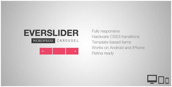 Everslider - Responsive WordPress Carousel Plugin - CodeCanyon Item for Sale