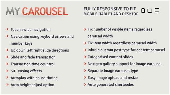 MyCarousel - Responsive Carousel WordPress Plugin - CodeCanyon Item for Sale