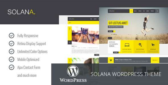 Solana - Responsive Multipurpose WordPress Theme - Business Corporate