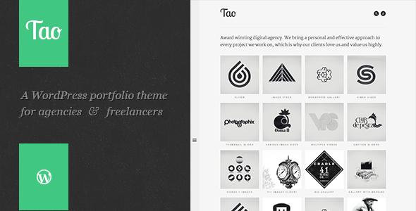 Tao: Retina & Responsive WordPress Portfolio Theme - Portfolio Creative